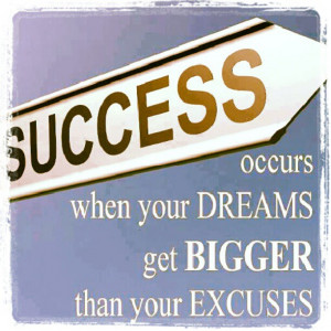 your dreams can be affected by excuses