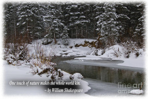 Snow By The Riverside Shakespeare Quote Photograph