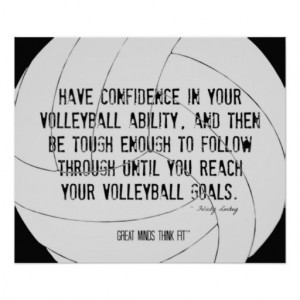 Motivational Volleyball Print 017 Black and White