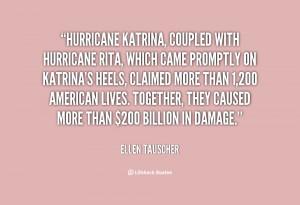 quote Ellen Tauscher hurricane katrina coupled with hurricane rita