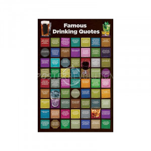Famous Drinking Quotes (Chart) Art Poster
