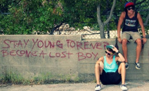 boys, lost boy, quote, stay young