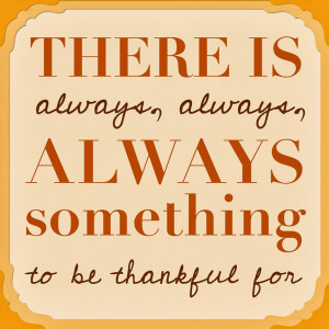 ... is a month of gratitude and reflection, a month to be thankful