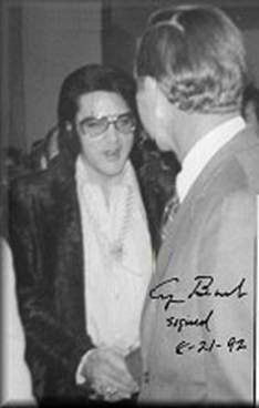 Autographed 1973 Photo of President George H W Bush and Elvis