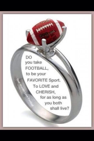 Football ring! Love this!