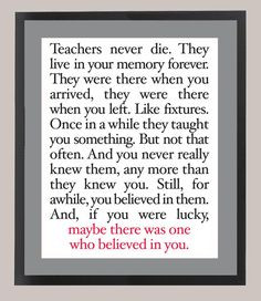 For all my awesome/favorite teachers. And for my friends and family ...