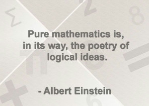Quote about math by Albert Einstein