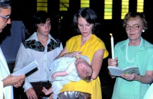 Baby me, with my mom, uncle, and grandmother. Our Lady of the ...