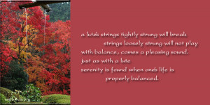 balance quotes - serenity is found quotes