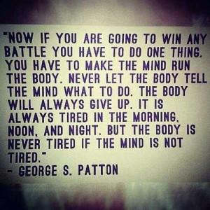 Mind over matter...