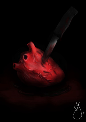 Stabbed In The Heart Stabbed heart by jc1593
