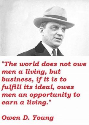 Owen d young famous quotes 2
