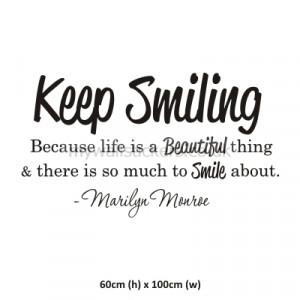 Keep Smiling - Marilyn Monroe
