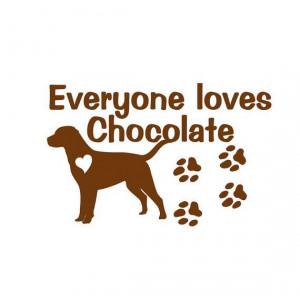Chocolate Labrador Retriever Dog Vinyl Decal Wall by sookiedog, $9.00