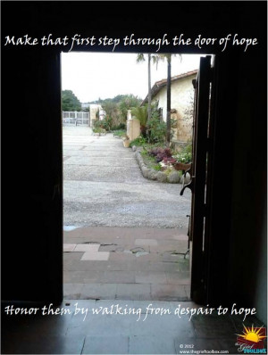 ... step through the door of Hope A Poem | The Grief Toolbox GREAT PAGE