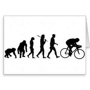 Cyclists Cycling evolution Bicycle Riders Cycle Card