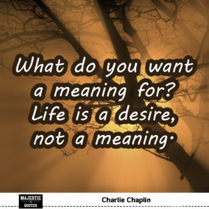 quotes for pictures - Charlie Chaplin - What do you want a meaning ...