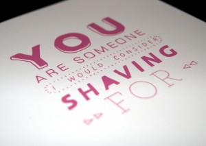 Shaving For // Sarcastic Funny I Love You Birthday Valentine