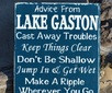 ... Lake Gift - Lake Life Sayings Quotes on Wood - Lake Rules Hand Painted