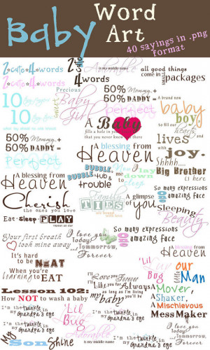 Little Girl Sayings For Scrapbooking Instant download - baby word