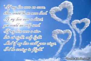 Romantic love poem to show your love.