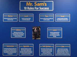 ... took while in Mr. Sam's 10 Rules for Success conference room