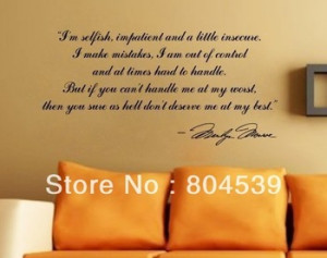 quotes and sayings Wall Sticker Vinyl wall home art decor decal