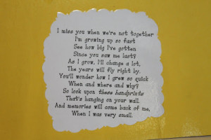This is the little poem that is on the pictures that they made.