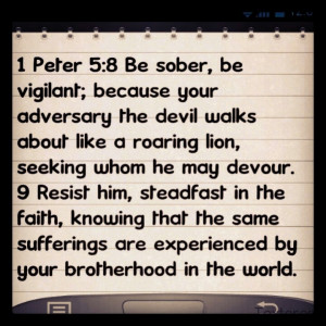 Peter 5:8-9Peter 589, Bible Verses
