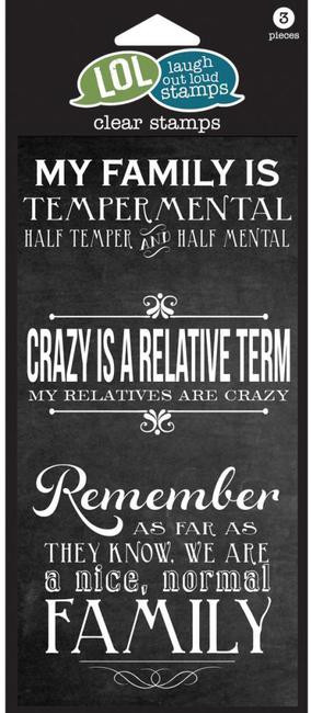 Crazy Family - Laugh Out Loud Clear Stamp