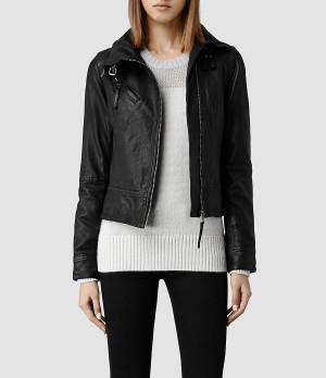 us allsaints women leather allsaints belvedere leather jacket