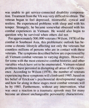 ptsd case study war veteran This case study presents the therapeutic process through art therapy in the case of a senior active duty military service member (with chronic ptsd and tbi), in the context of an integrated model of care that included medical and complementary therapies.