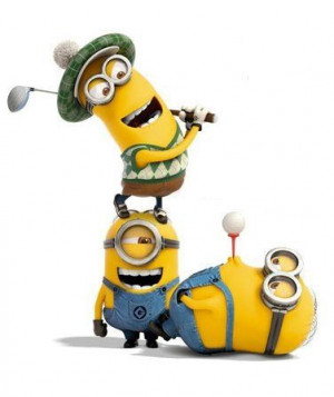 Golf, minions, despicable me, yellow, funny