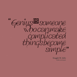 Quotes About: genius