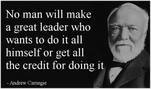 Andrew Carnegie quote on leadership…