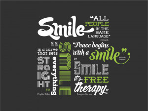 Smile Quotes Wall