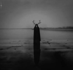 Black and White dark skull Witch horns ritual bleak sorcerer black ...