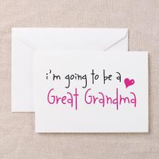 going to be a Great Grandma Greeting Cards (Pa for