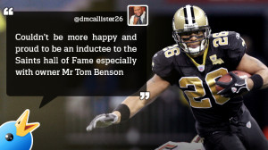 Quick Quote: Deuce McAllister in Saints Hall of Fame