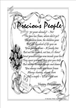 ... parents 50th 50th wedding anniversary poem free 50th anniversary poems