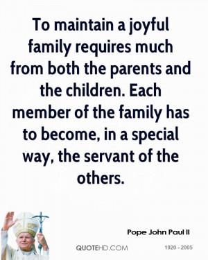 Funny Quote Pope John Paul