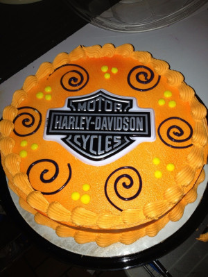 Dq cakes...Dairy Queen. Harley Davidson.