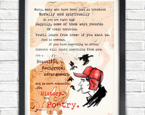 Salinger // Catcher In The Rye Quote // Typographic Poster ...