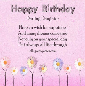 ... , Birthday Quotes For Daughters, Greeting Card, Birthday Daughters