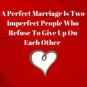 Marriage Quote imperfect people