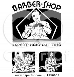 black barber clipart