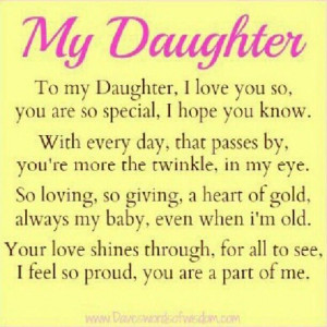 daughter poems