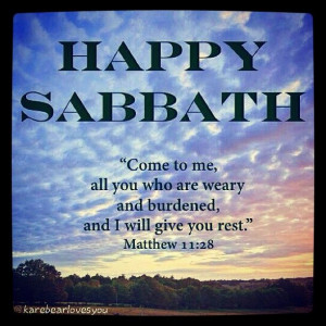 Happy Sabbath!