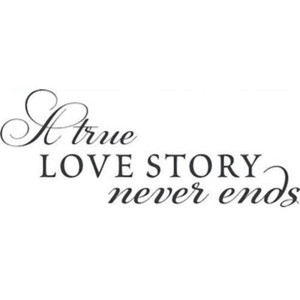 Trading Phrases Wall Decals Love Story