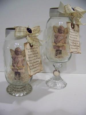 ... fairies in a jars candles holders glasses candles mason jars fairies